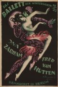 Vintyage German poster - The ballet of winter season (1919)